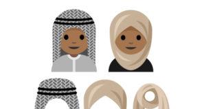 emoticono con velo hijab