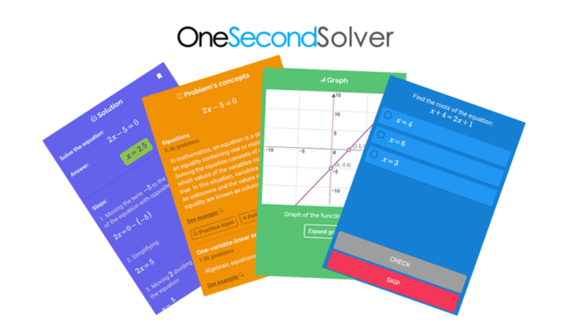 One Second Solver, un ayudante sobresaliente en matemáticas