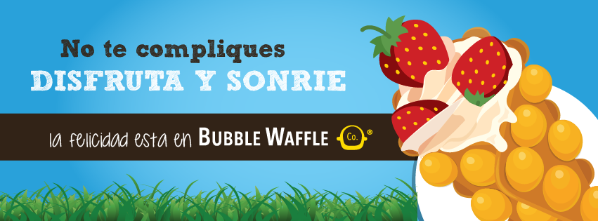 Bubble Waffle Co,​ ​exquisitos​ ​waffles​ ​en​ ​forma​ ​de​ ​burbuja